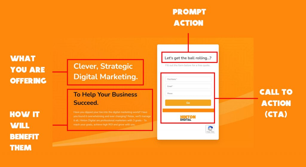 example of a good landing page